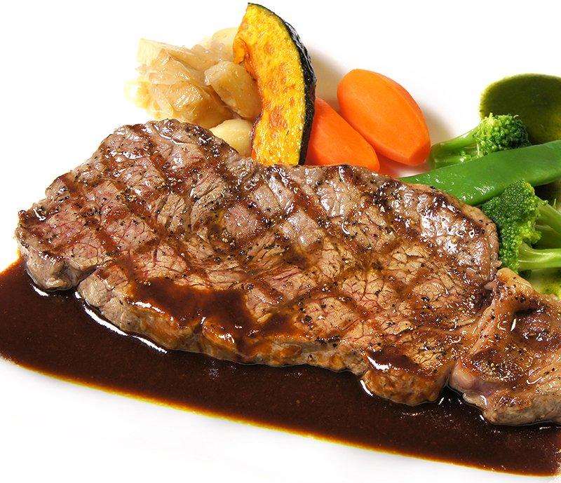 画像:牛ロースステーキ デミグラスソース