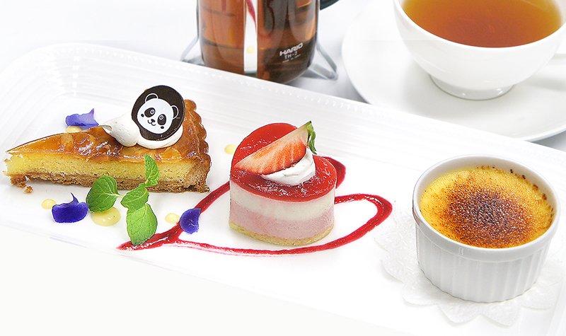 画像:シャンシャンちゃん誕生1周年記念 デザートセット