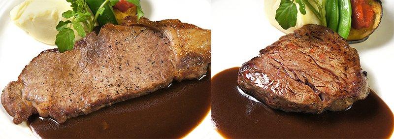 オーストラリア産牛フィレステーキ(90g) 又は牛ロースステーキ(140g)