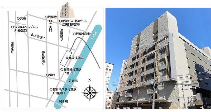 上野精養軒 浅草店 アクセスマップ 外観